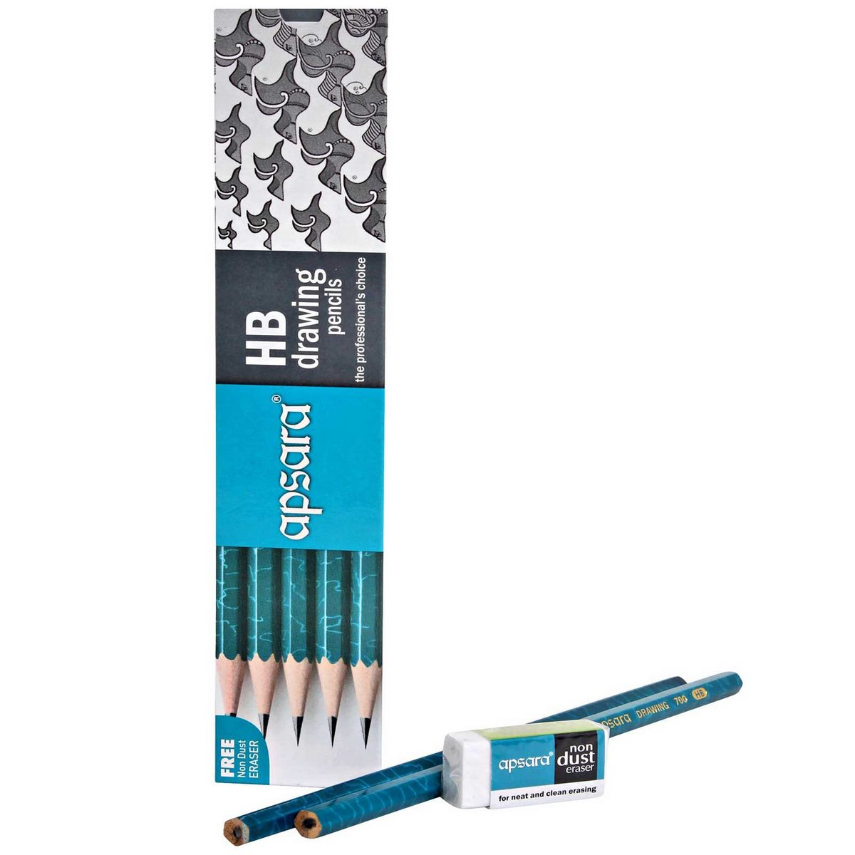 Apsara Drawing Pencils (Lead Size: HB) (Pack of 10)