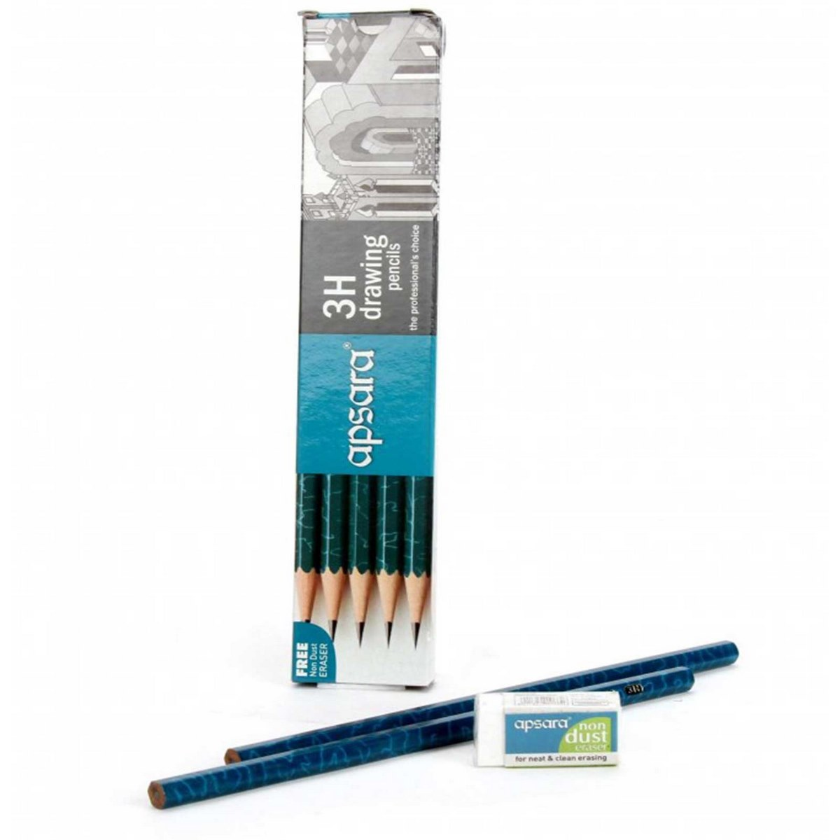 Apsara Drawing Pencils (Lead Size: 3H) (Pack of 10)
