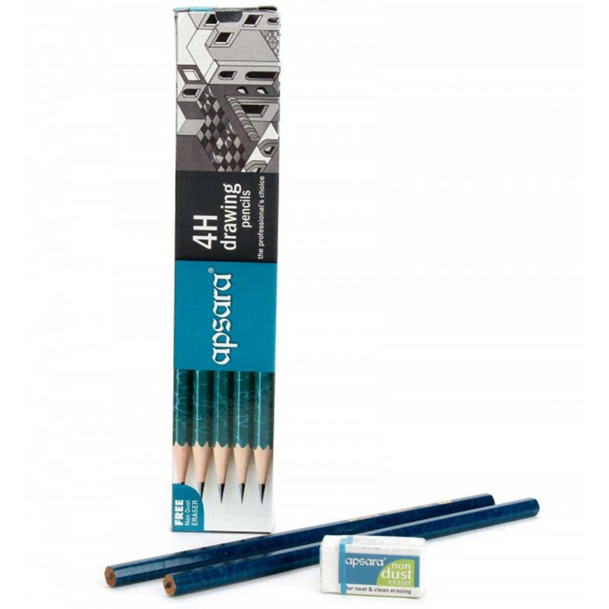 Apsara Drawing Pencils (Lead Size: 4H) (Pack of 10)
