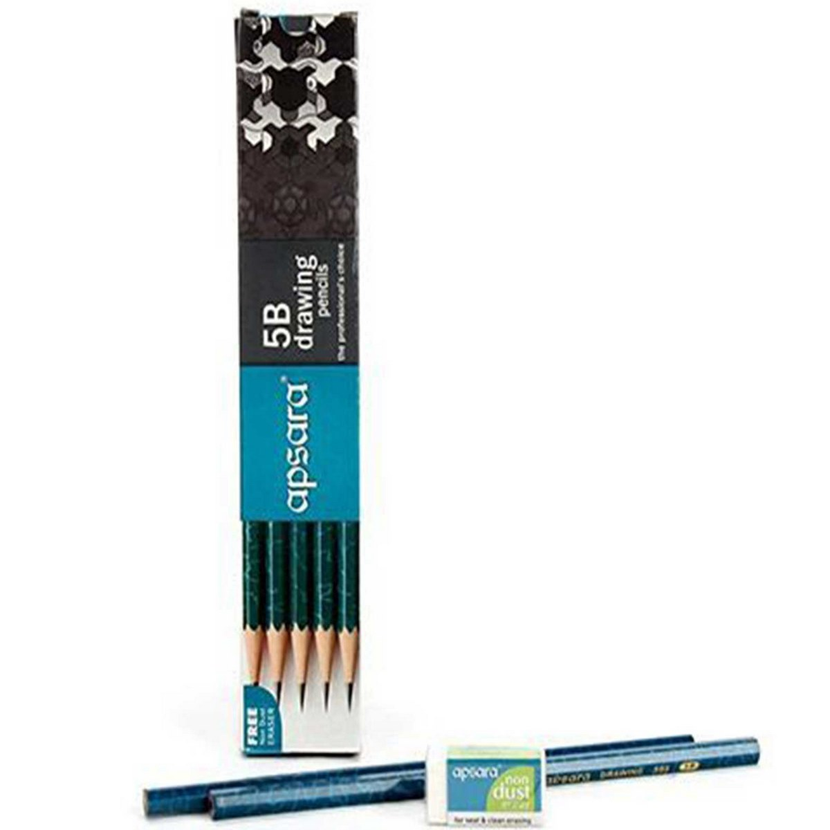 Apsara Drawing Pencils (Lead Size: 5B) Black 101212002