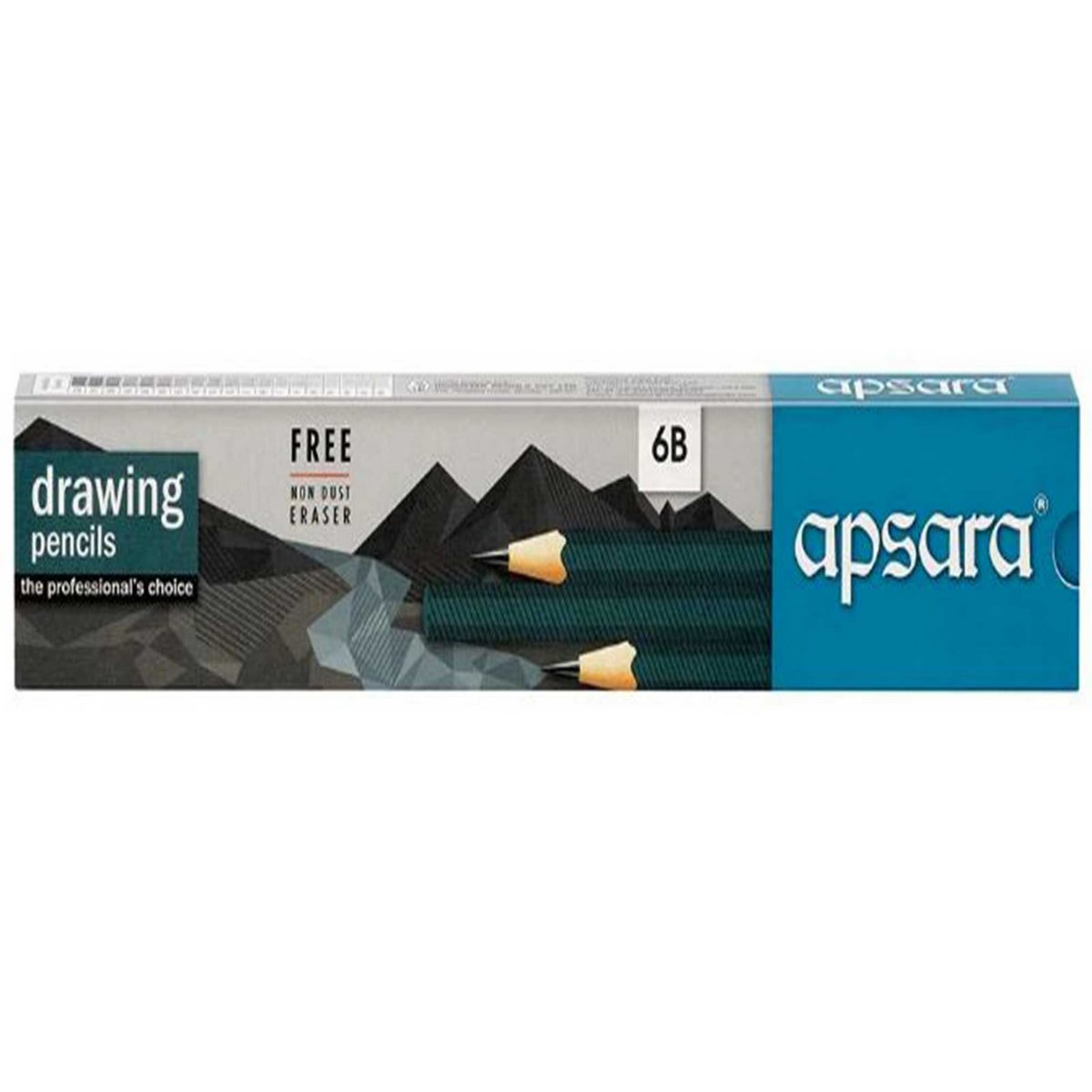 Apsara Drawing Pencils (Lead Size: 6B) Black 101213002