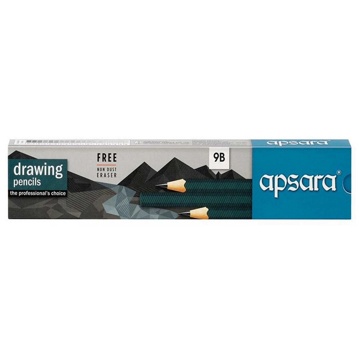 Apsara Drawing Pencils (Lead Size: 9B) (Pack of 10)