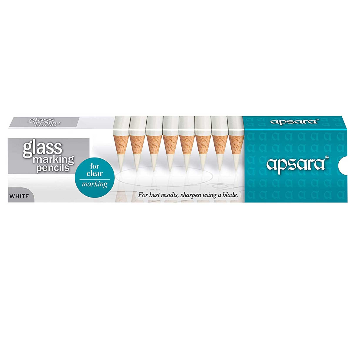 Apsara Glass Marking Pencils White 101221001W