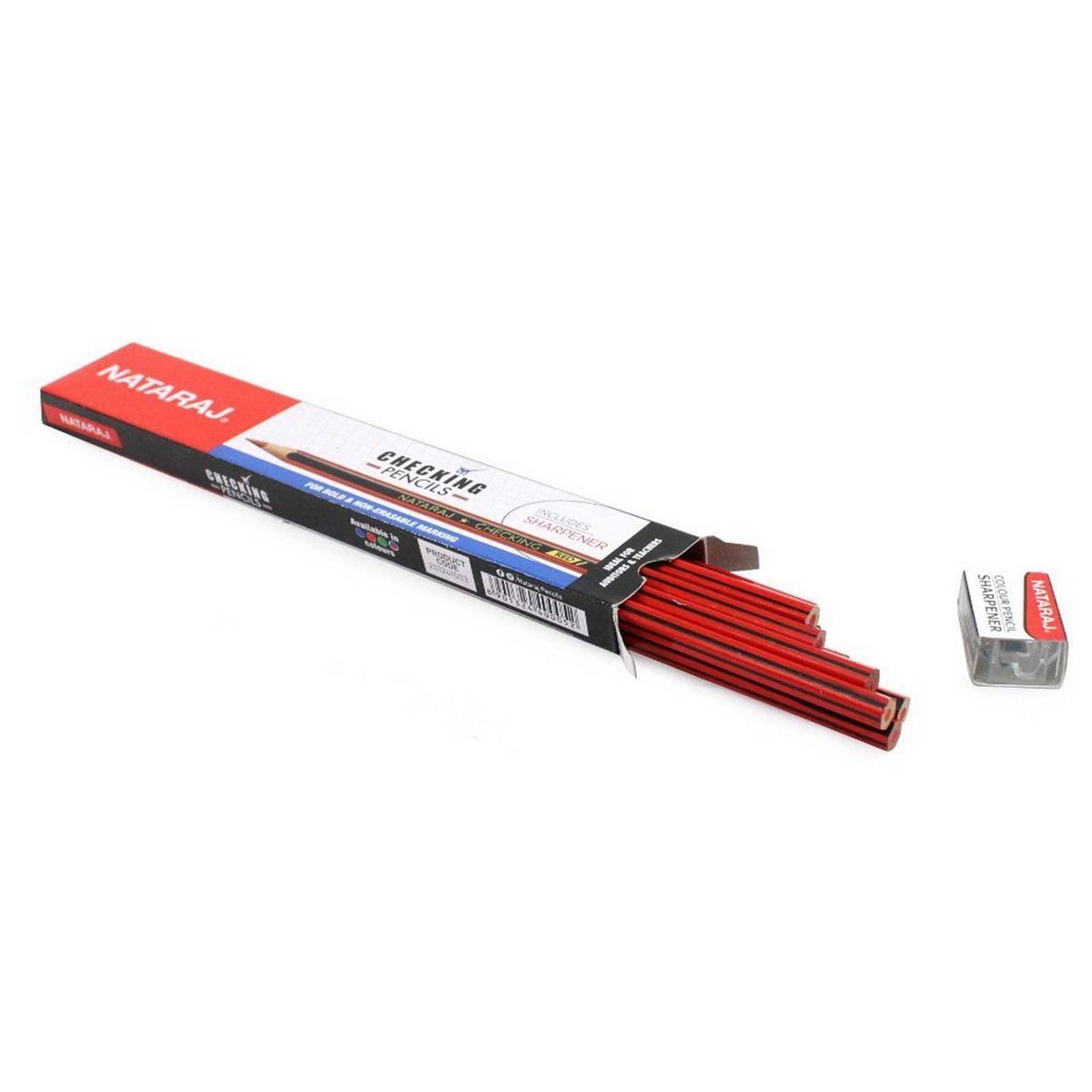 Nataraj Checking Pencils Red 201241003