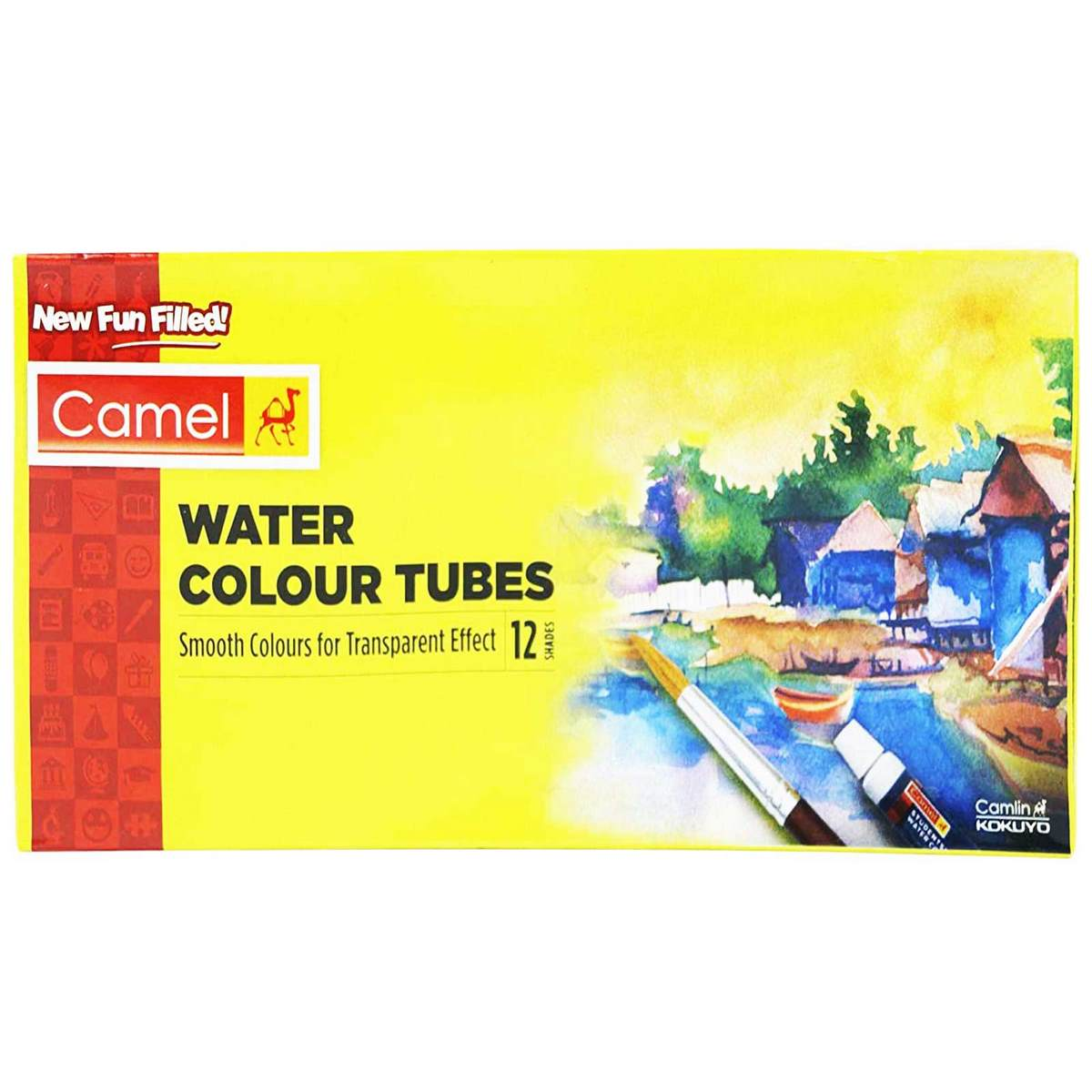 Camel Water Colour Tubes (Pack of 12 Tubes each 5ml)