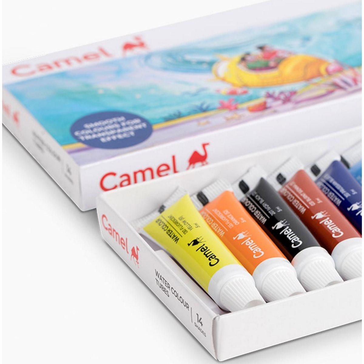Camlin Water Colour Tubes (Pack of 14 Tubes each 5ml)