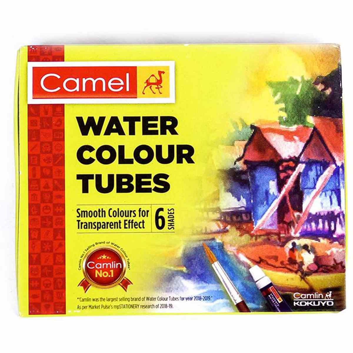 Camel Water Colour Tubes (Pack of 6 Tubes each 5ml)