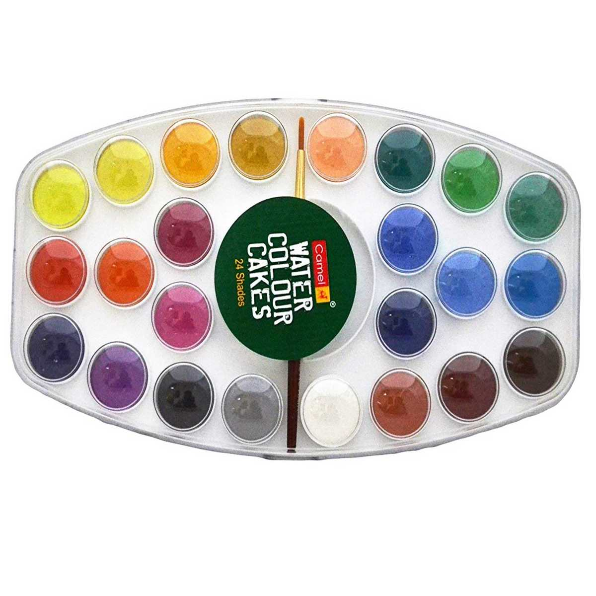 Camel Water Colour Cakes (Pack of 24 and 1 Paint Brush)