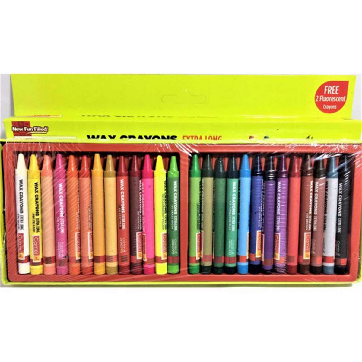 Camlin Wax Crayons Extra Long 452252