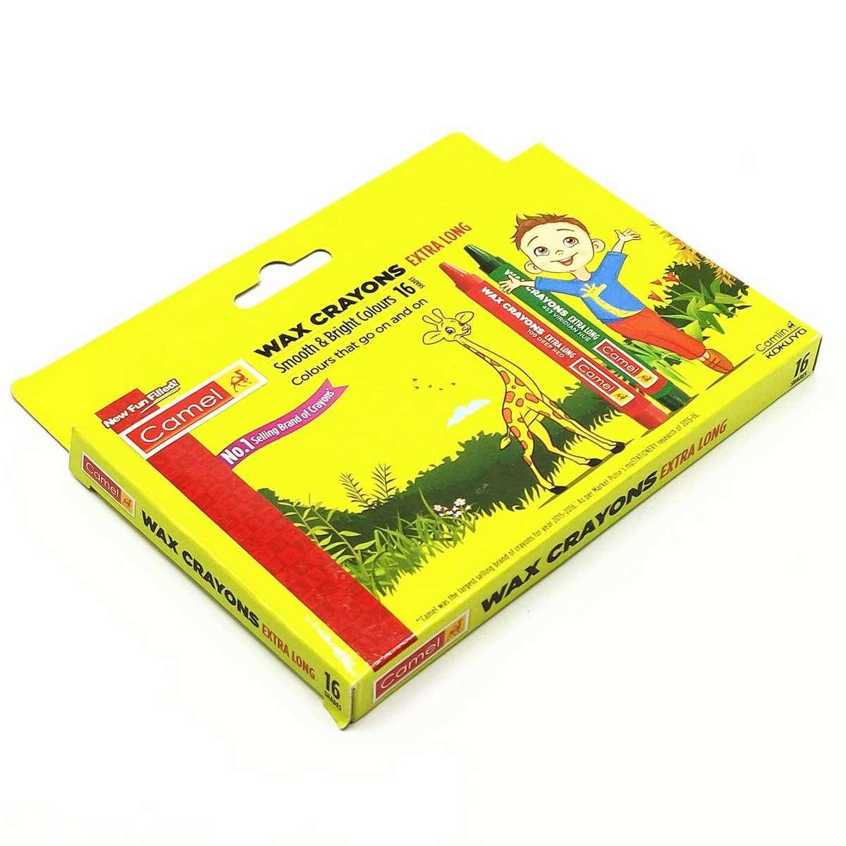 Camlin Wax Crayons Extra Long 4522549