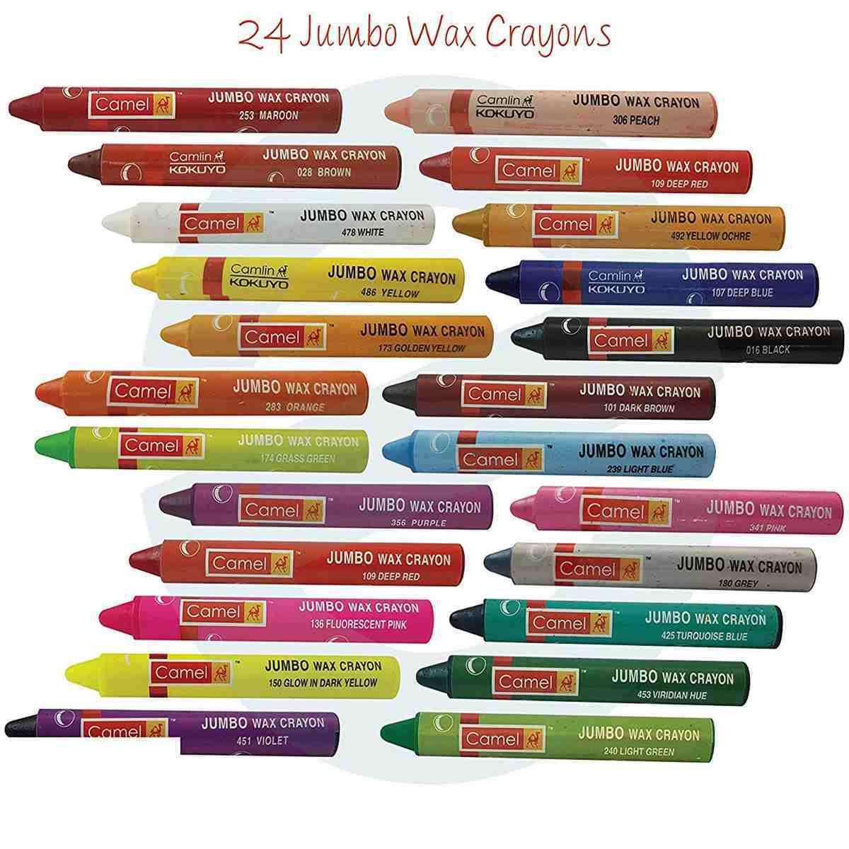 Camlin Wax Crayons Jumbo 4523520