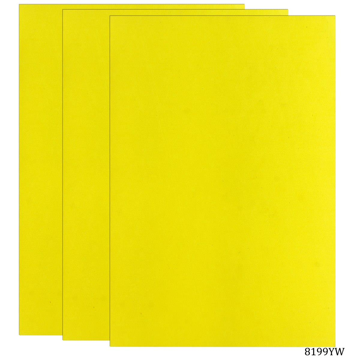 Foam Sheets A4 Size Without Sticker 3MM Yellow