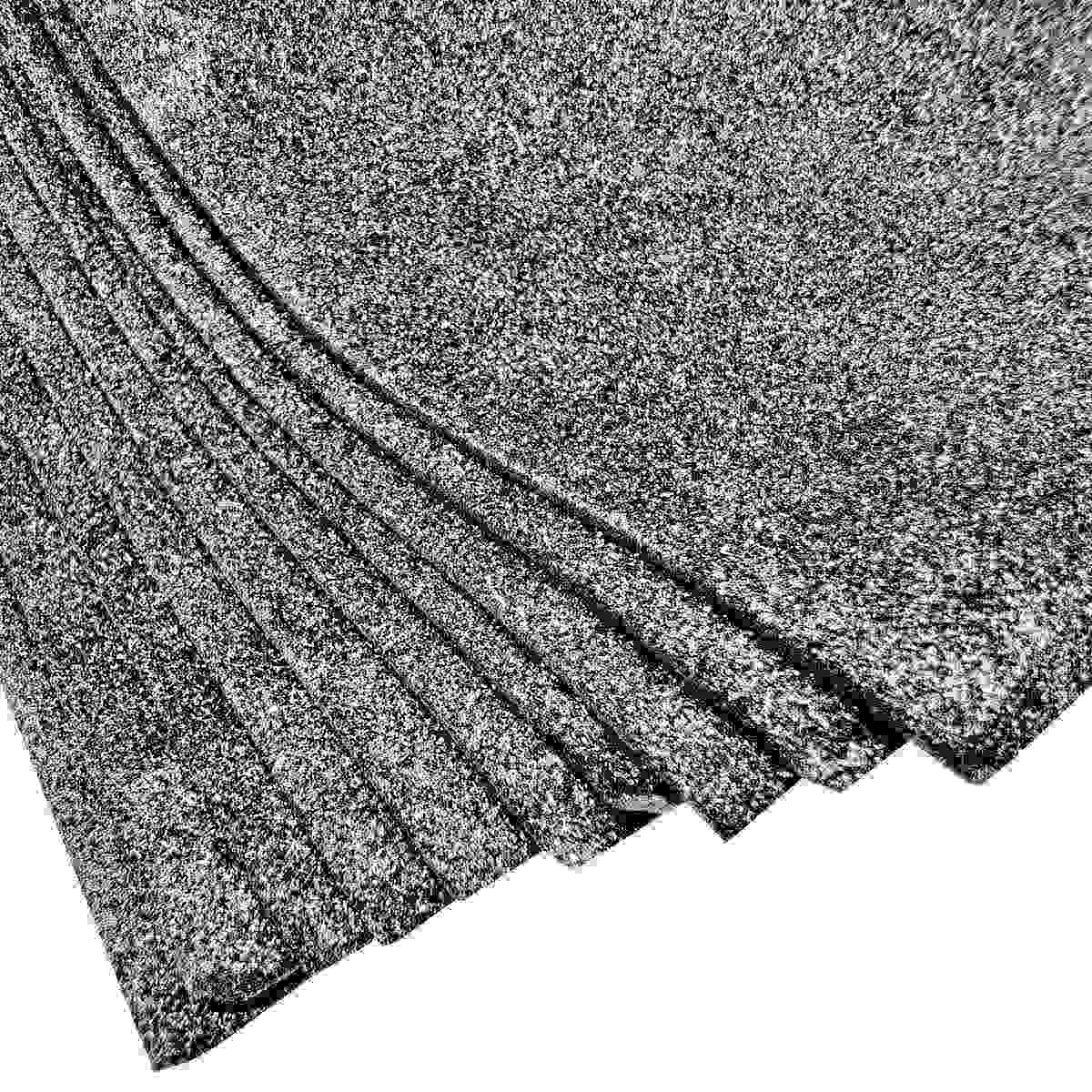 Glitter Foam A3 Sheet Without Sticker Black