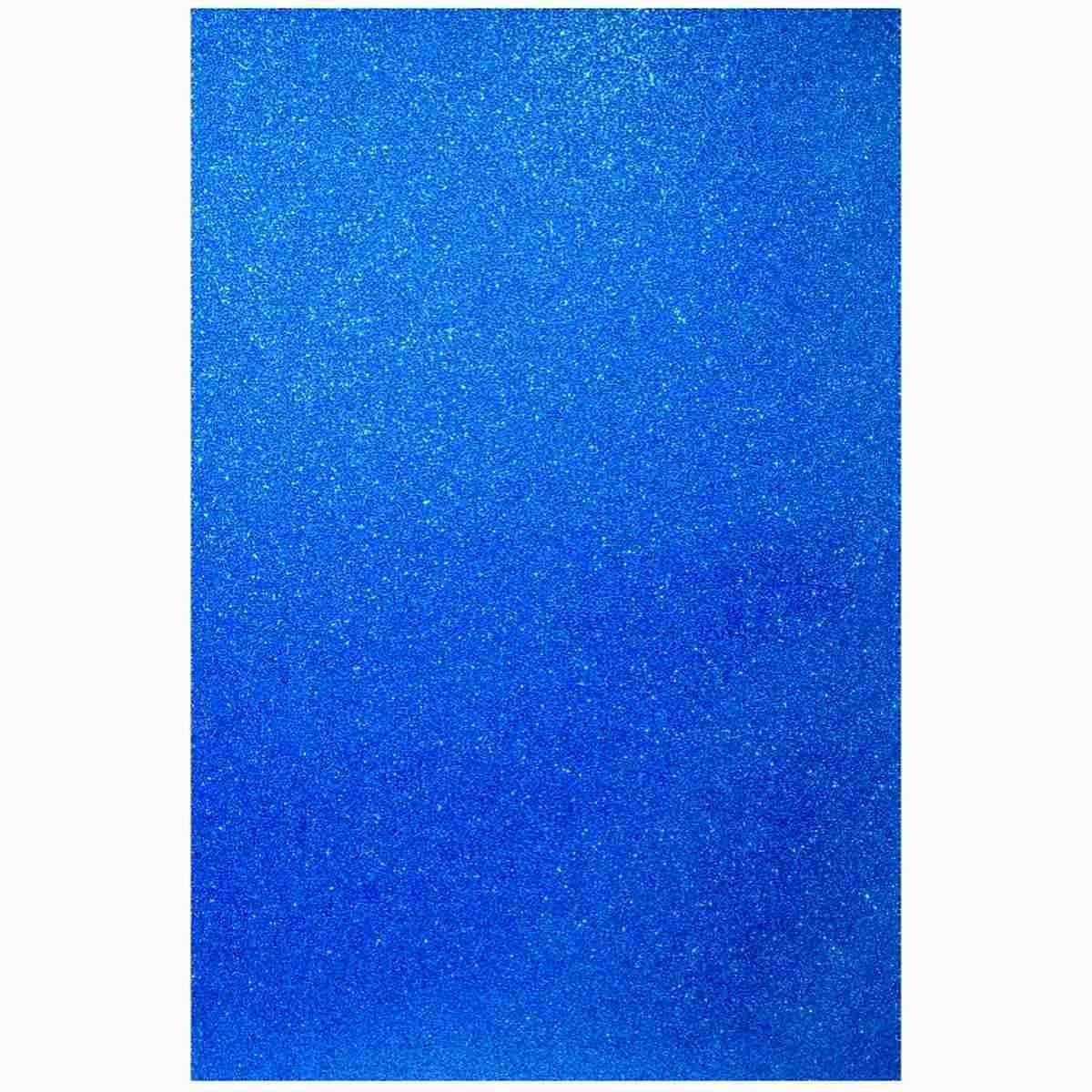 Glitter Foam A3 Sheet Without Sticker Blue