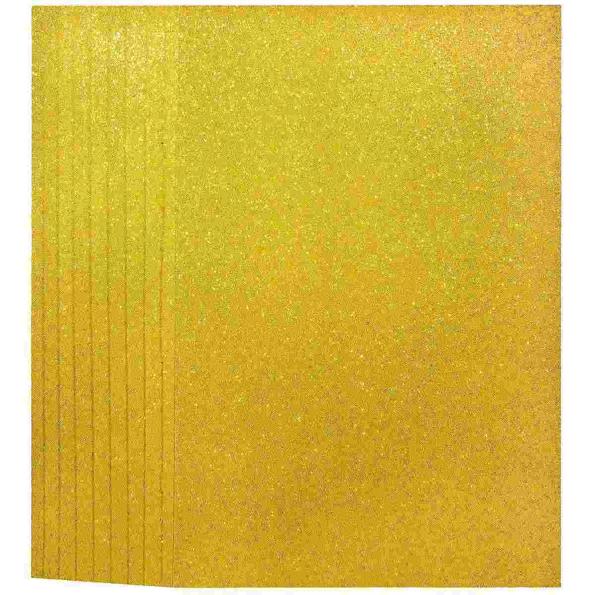 Glitter Foam A3 Sheet Without Sticker Gold