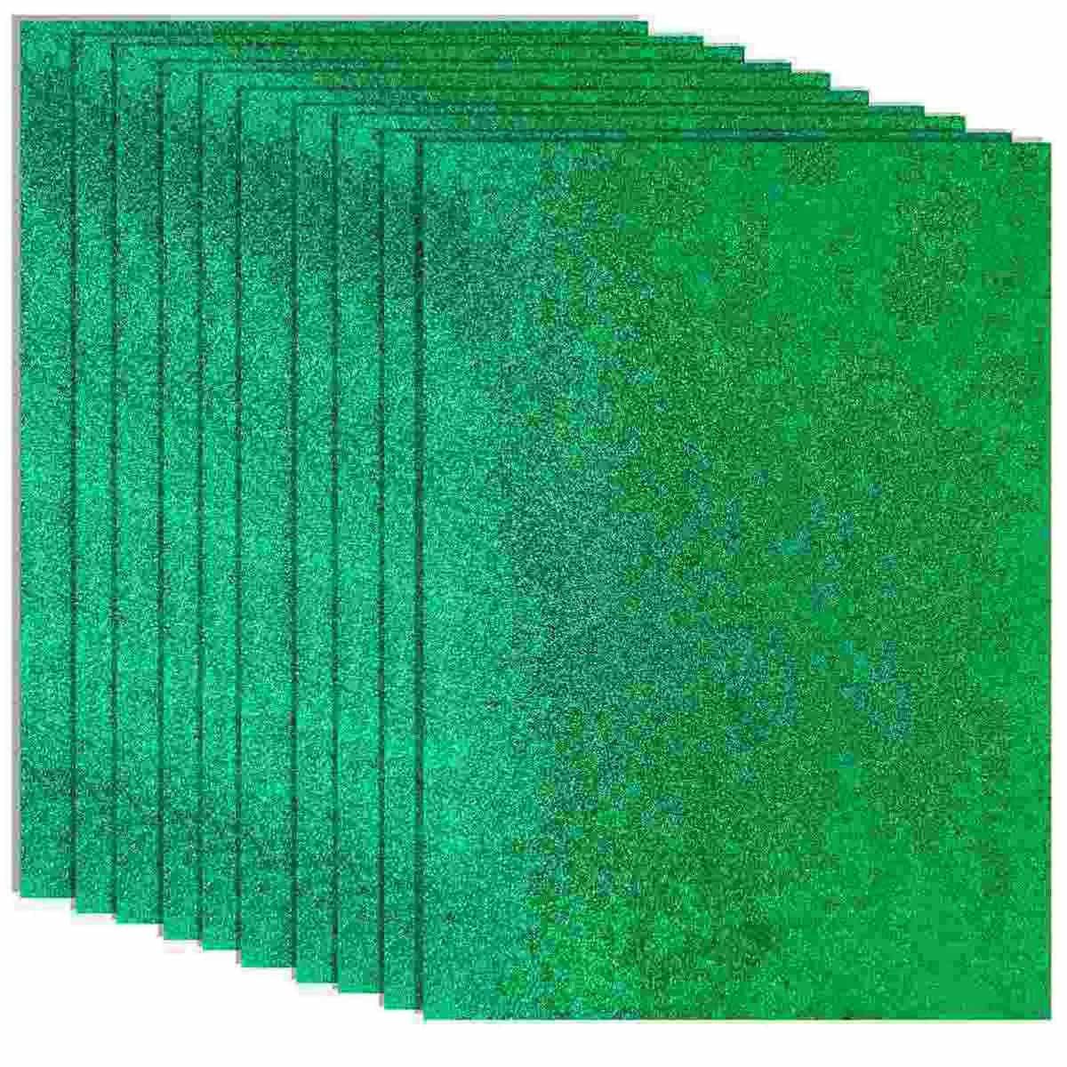 Glitter Foam A3 Sheet Without Sticker Green