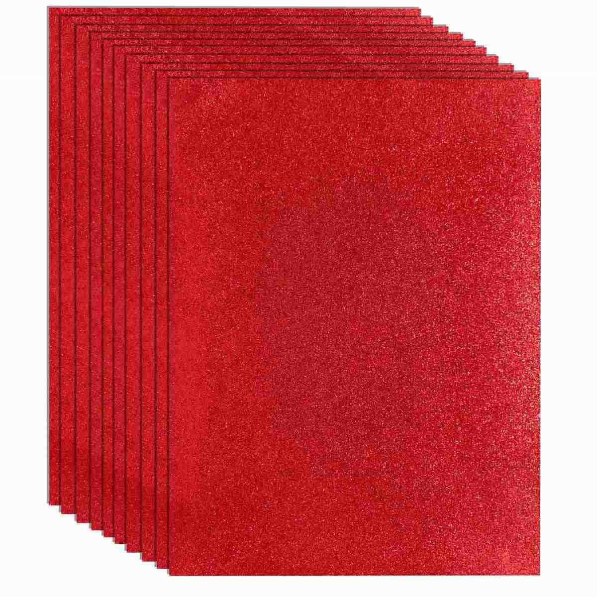 Glitter Foam A3 Sheet Without Sticker Red