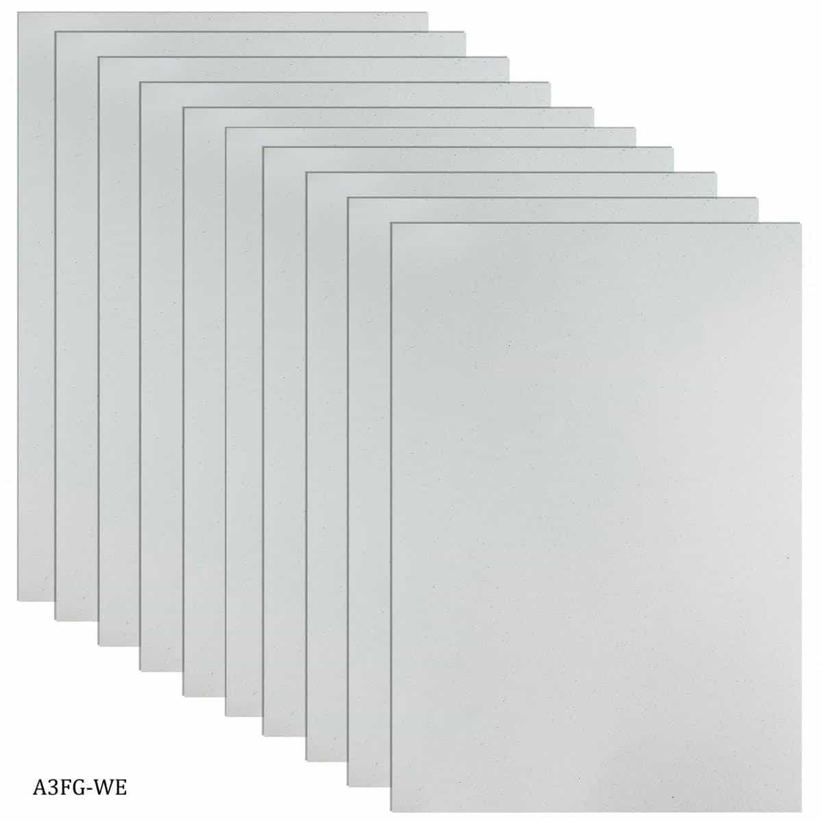 Glitter Foam A3 Sheet Without Sticker White