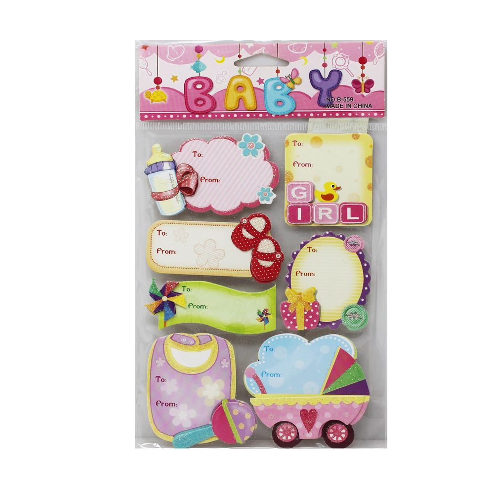 3D Stickers Baby Theme