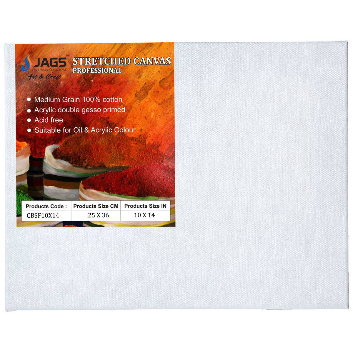Stretched Canvas Board (10X14 Inch)