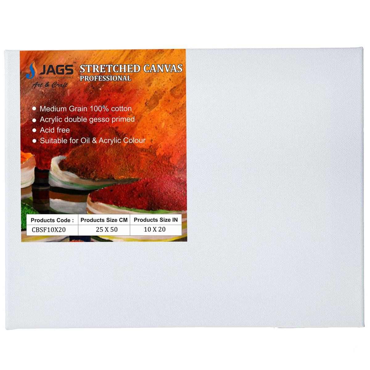 Stretched Canvas Board (10X20 Inch)