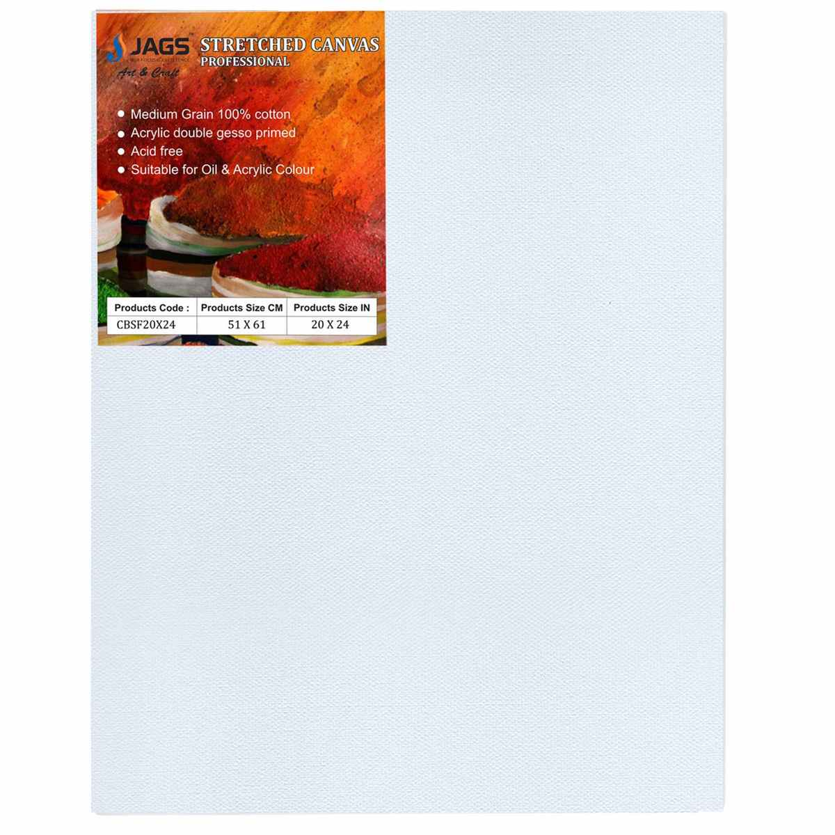 Large Stretched Canvas Board (20X24 Inch)