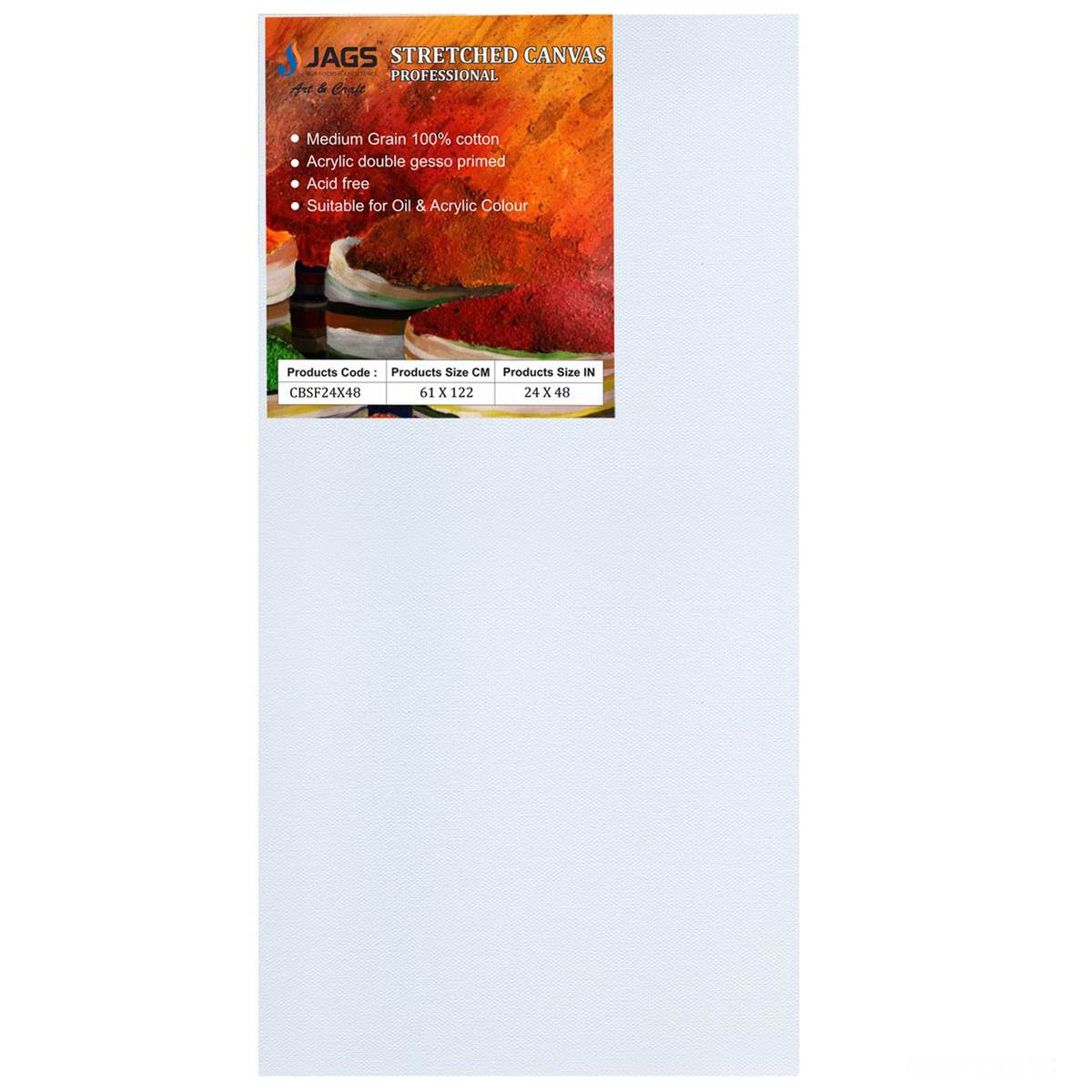 Extra Large Stretched Canvas Board (24X48 Inch)