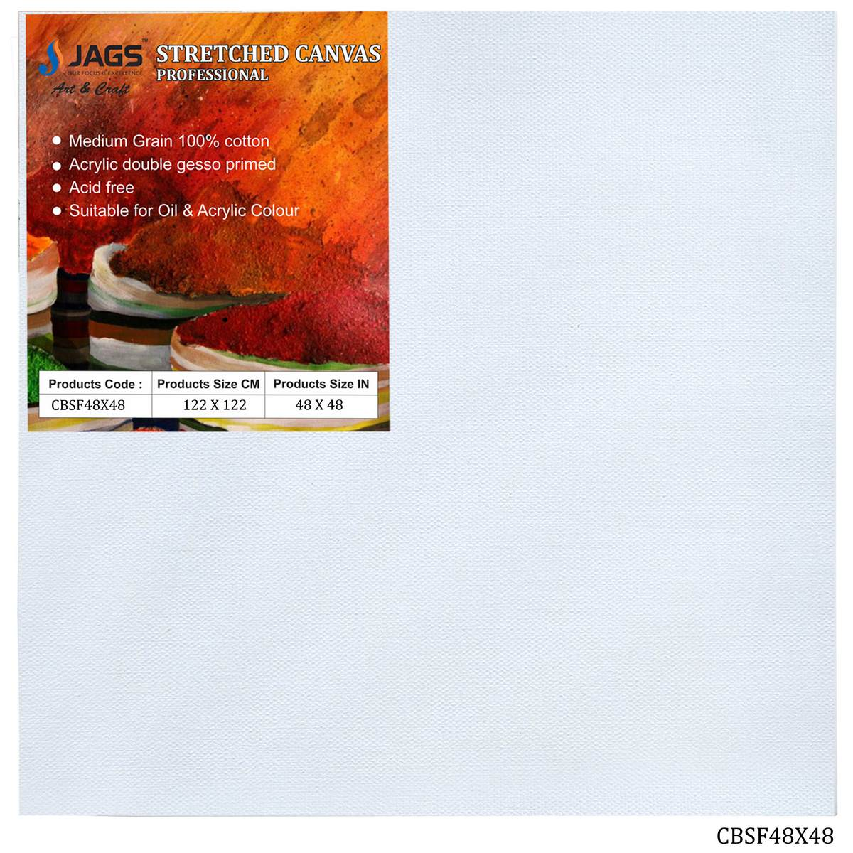 Extra Large Stretched Canvas Board (48X48 Inch)