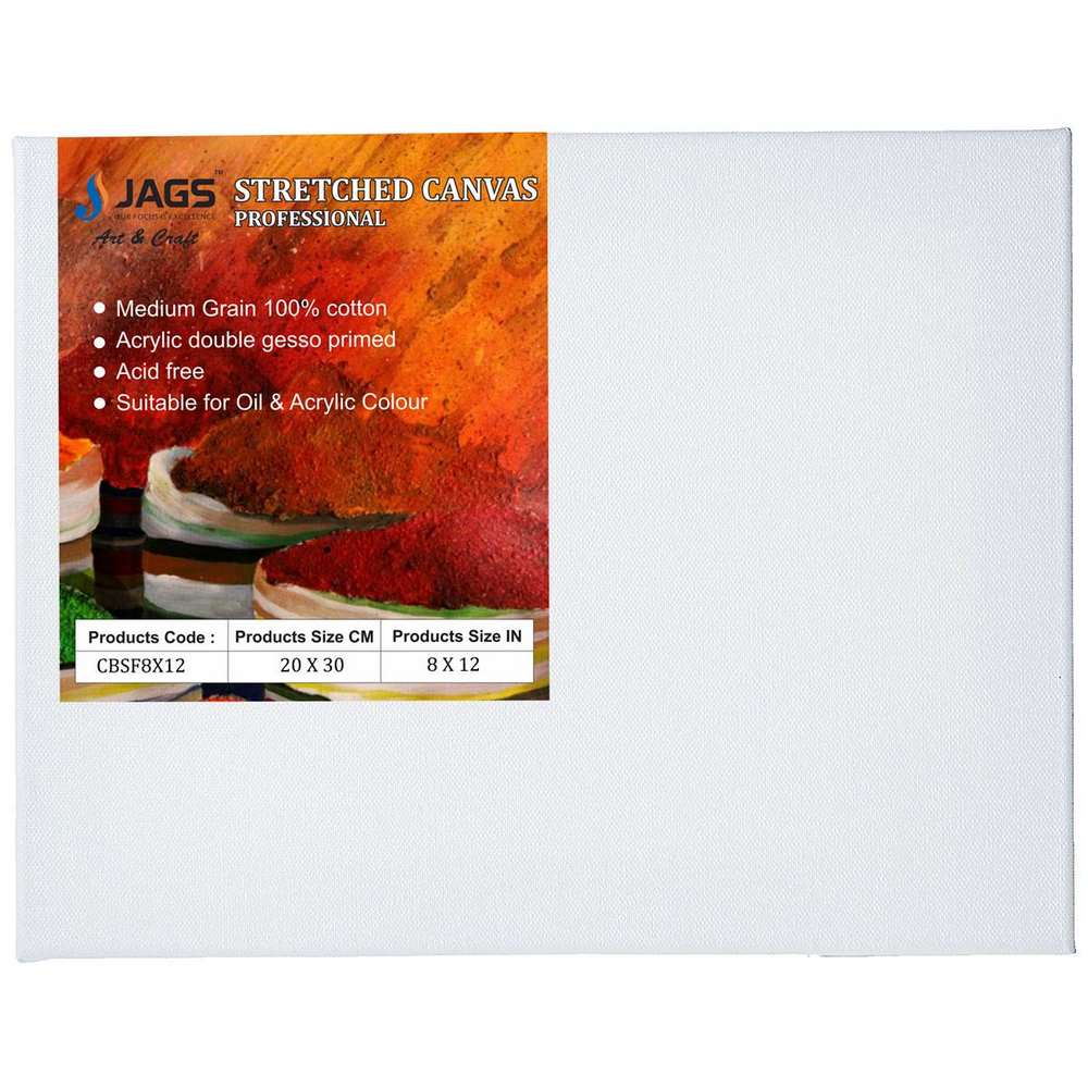 Stretched Canvas Board (8X12 Inch)