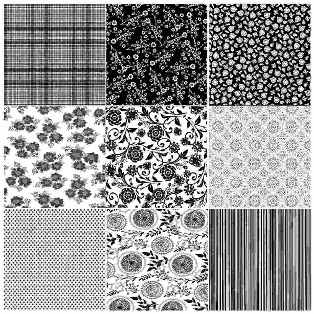 JAGS Capsule Collection BK and WT 12x12 Inch Printed Paper for Crafts 2 Sheets Each of 16 Designs for Making DIY Greetings and Scrapbooking Pack of 32