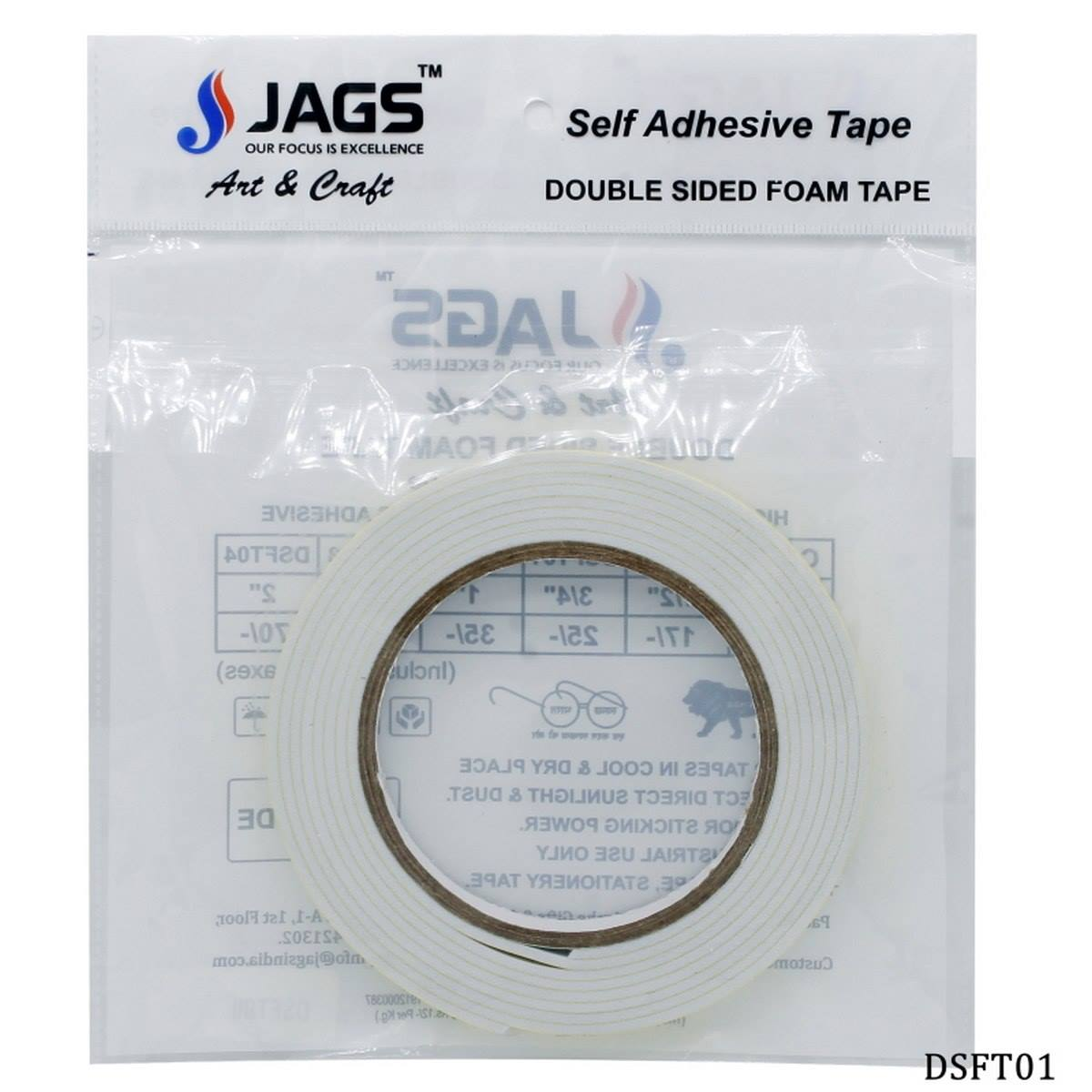 Double Side Foam Tape (15mmx2 cm)