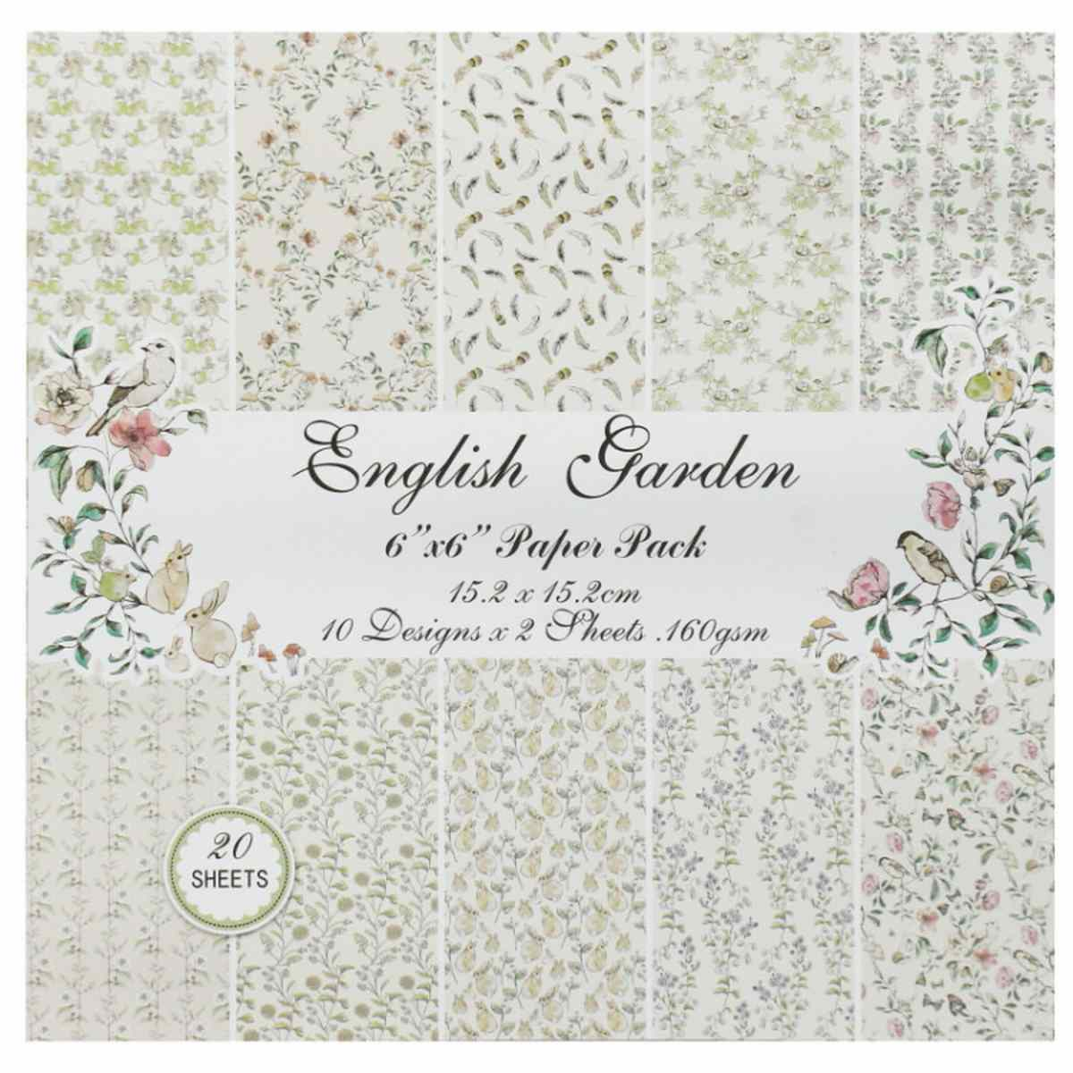 English Garden 6x6 Inch Printed Paper