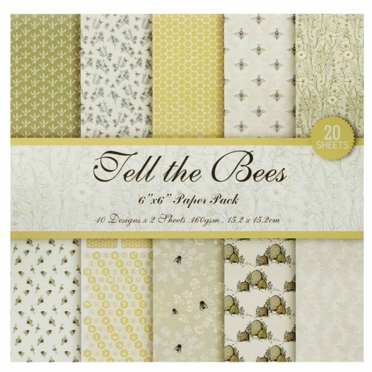 Tell The Bees 6x6 Inch Printed Paper