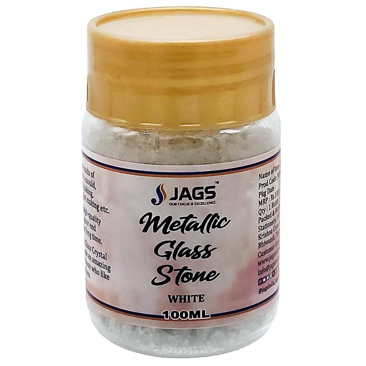 Micro Metallic Glass Stone White