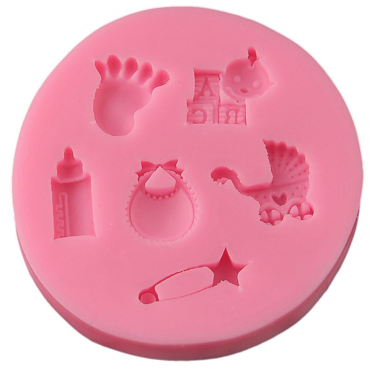 Resin Silicone Mould - Baby Elements Miniatures (8x8x1 cm)