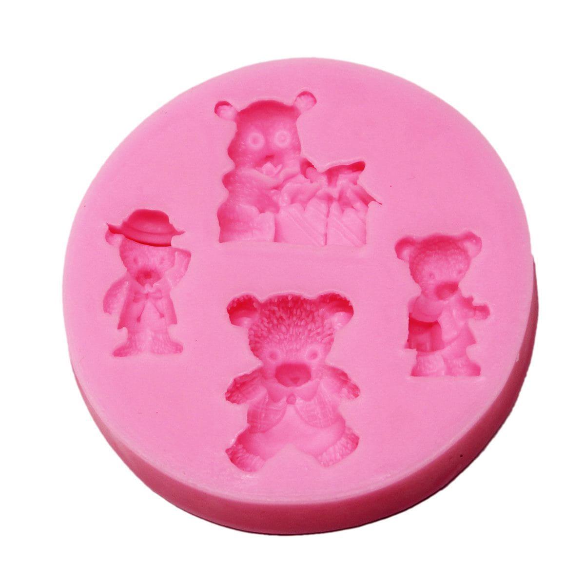 Resin Silicone Mould Miniature Teddy Design