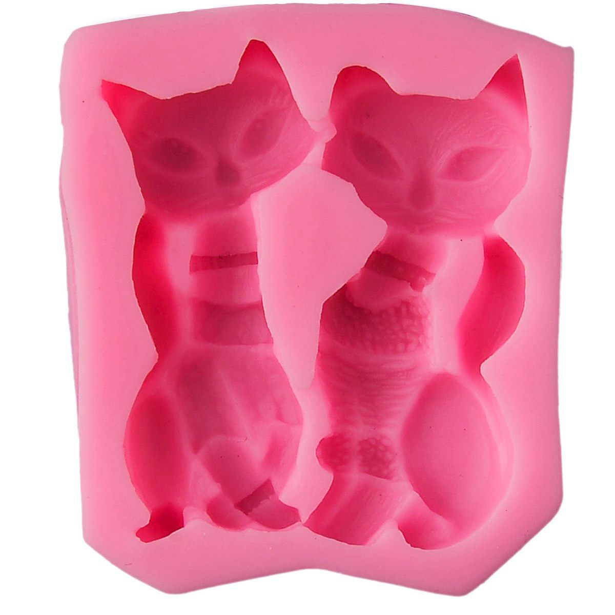 Resin Silicone Mould - Couple Cat (6x5x1.5 cm)