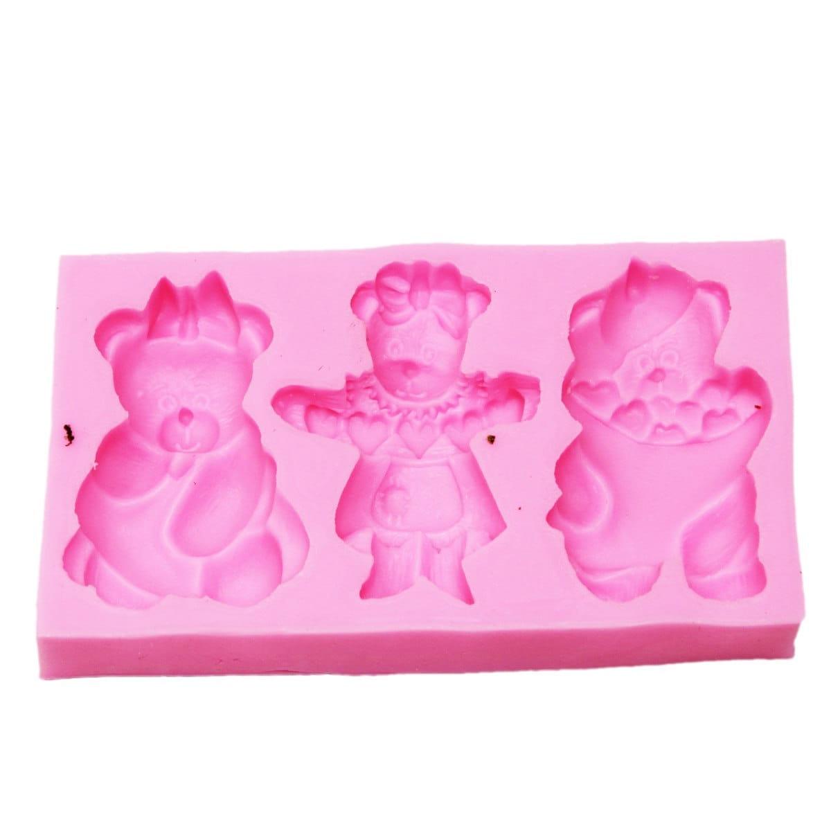 Resin Silicone Mould Birthday Teddy Design