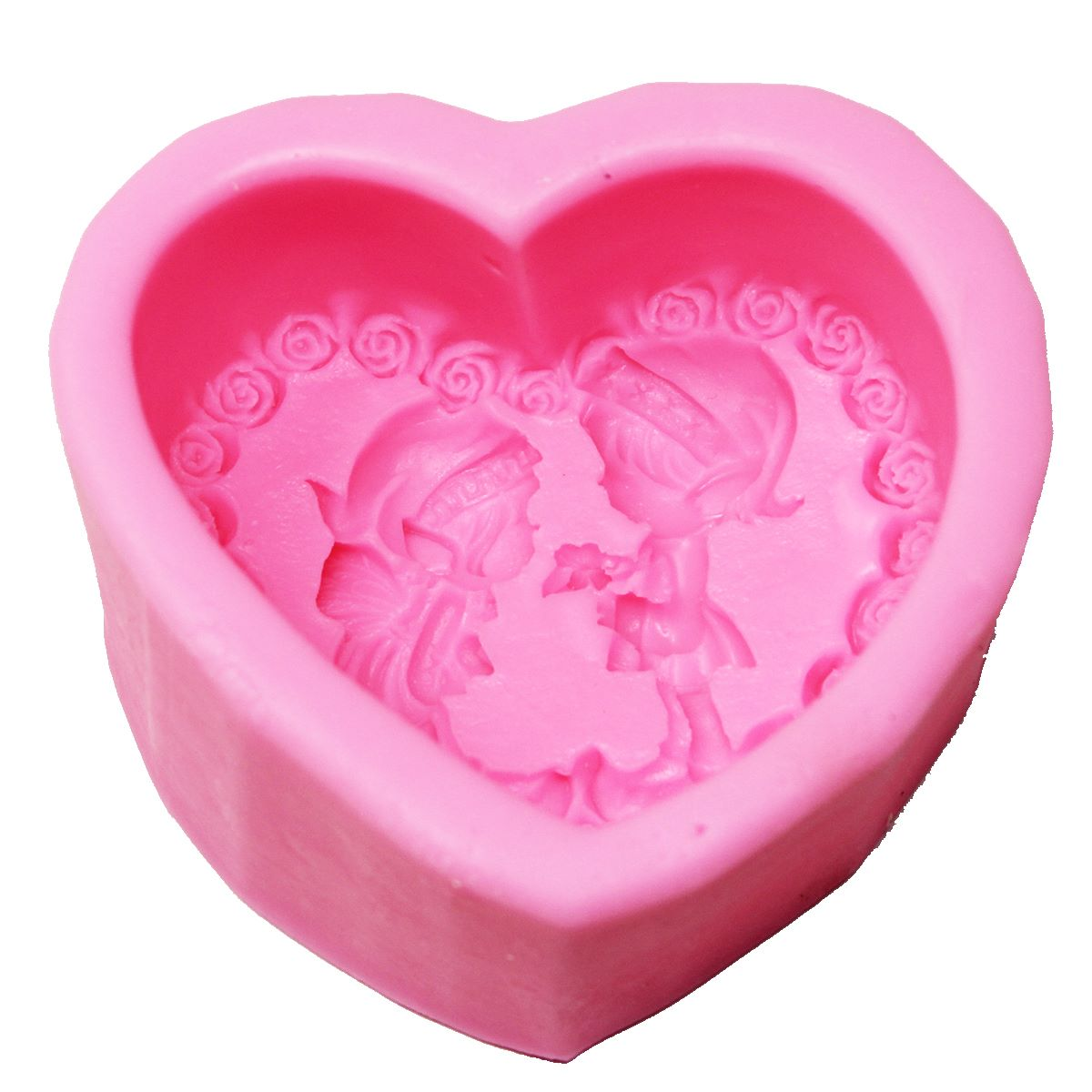 Resin Silicone Mould heart Couple Frame Design