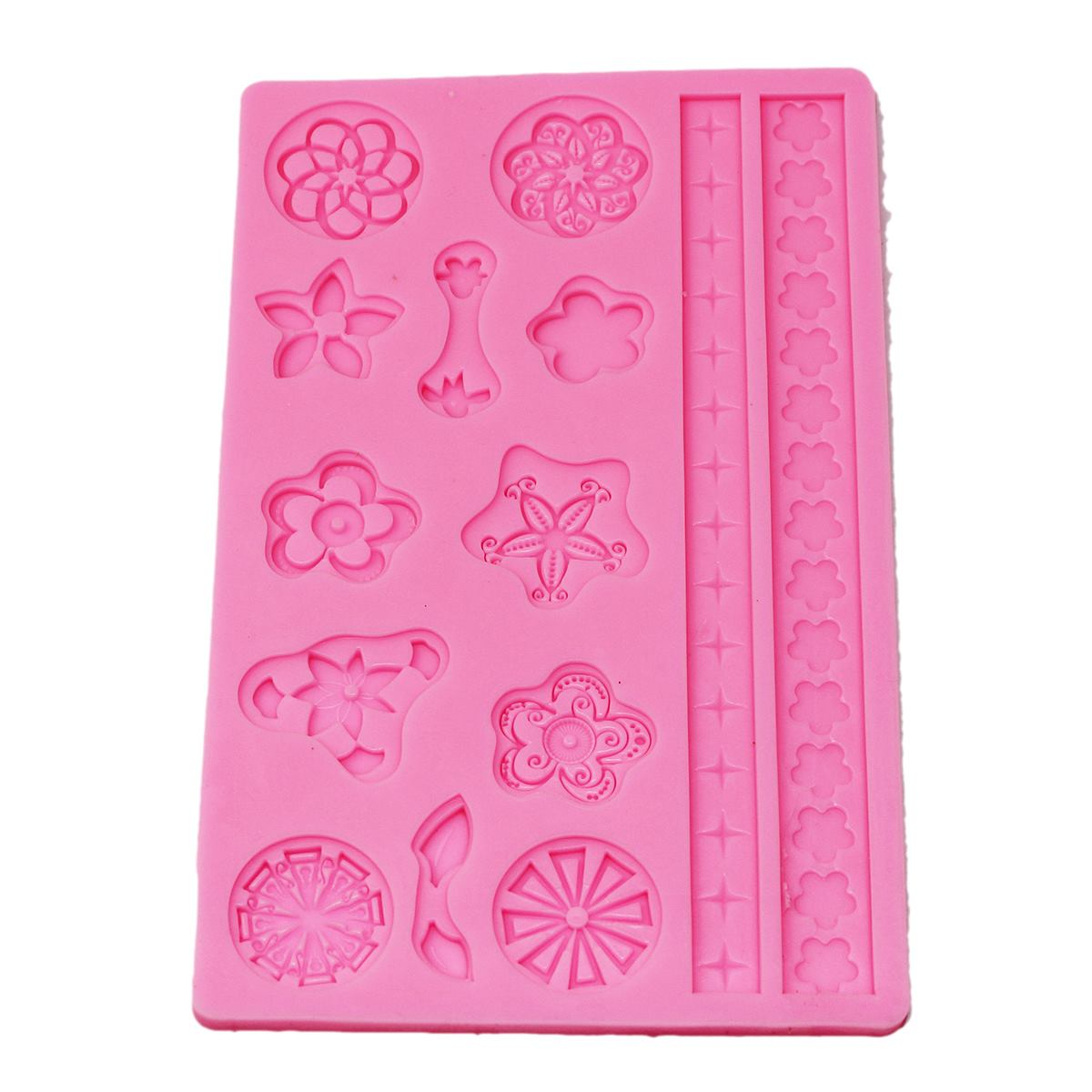 Resin Silicone Mould Flower Pattern & Lace Design Design