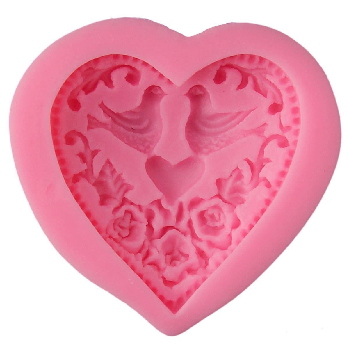 Resin Silicone Mould Bird Heart Design