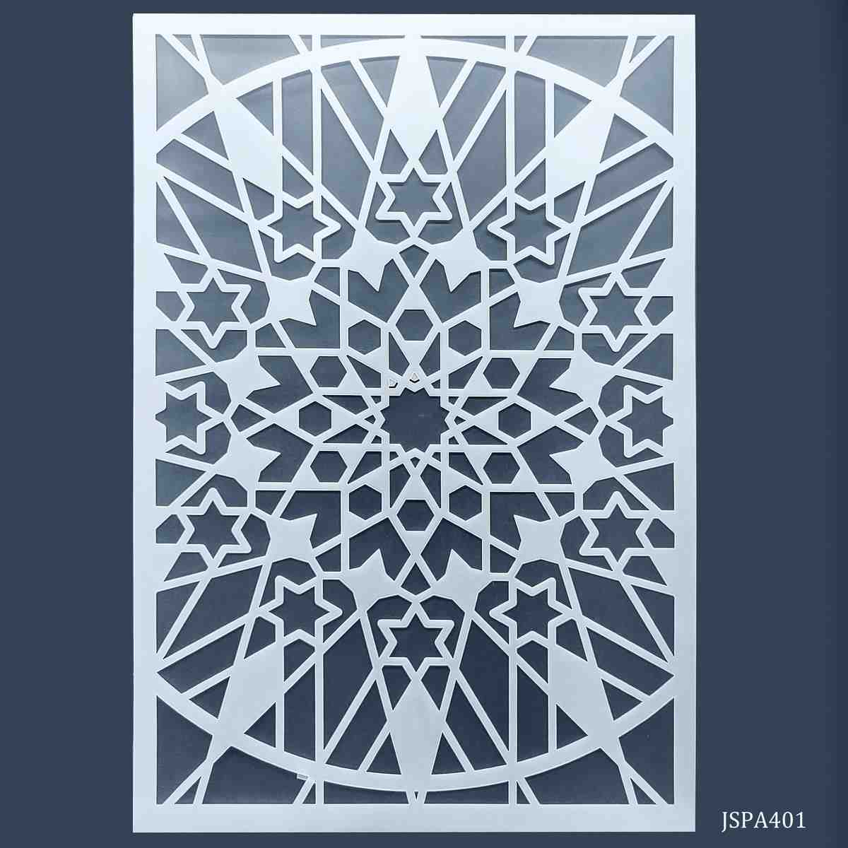 Craft Stencil Plastic Net Design