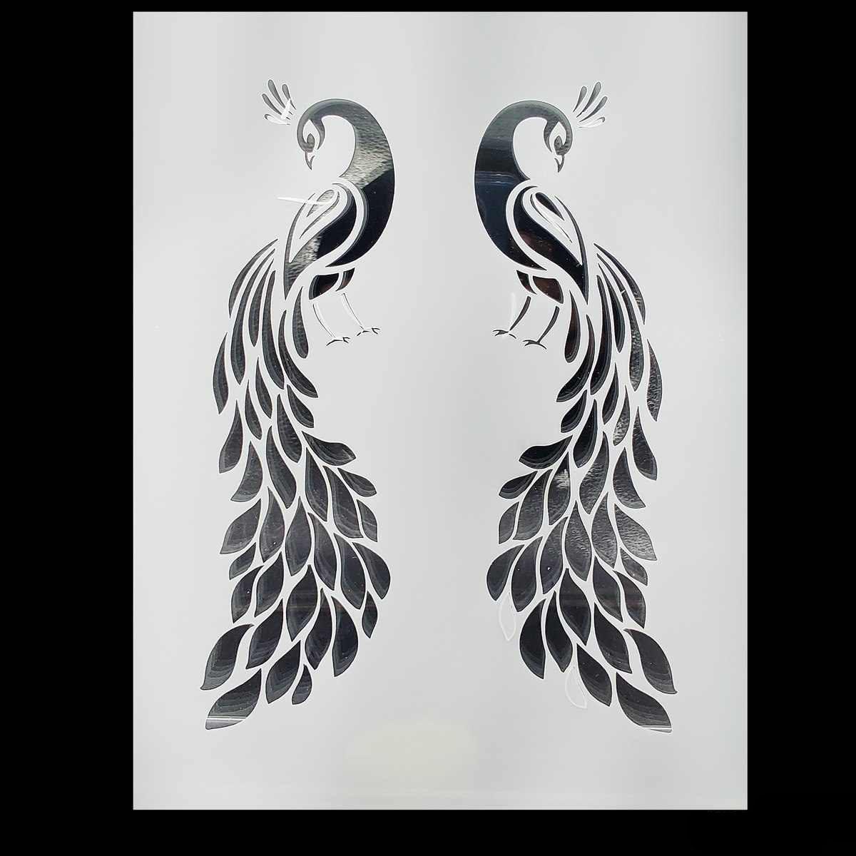 Craft Stencil Plastic 2in1 Peacock Desgin