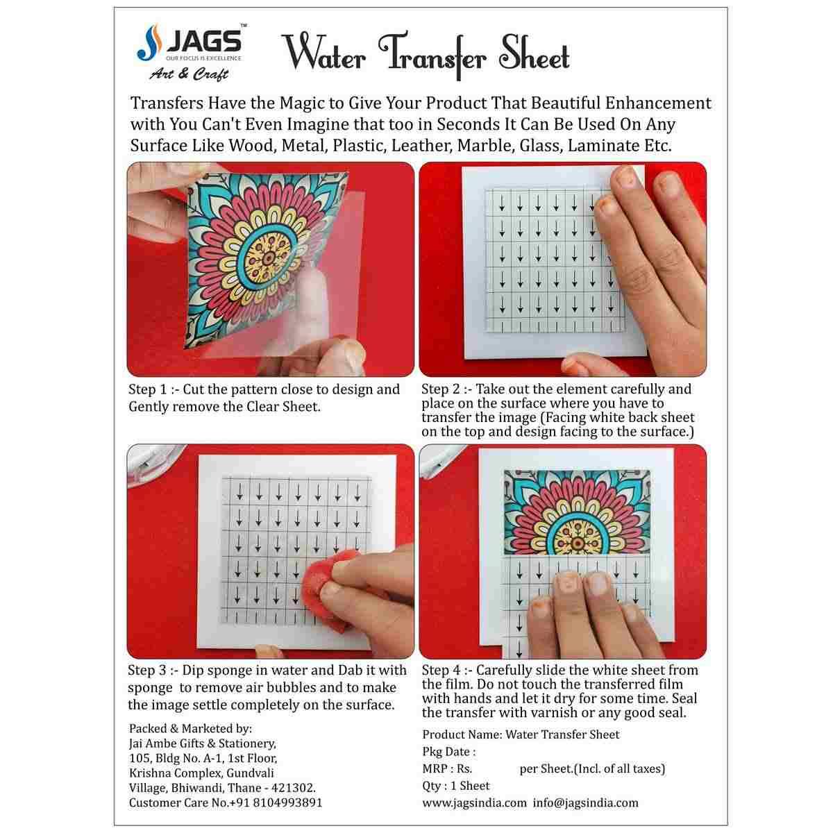 Water Transfer Sheet Flat Mexican Design