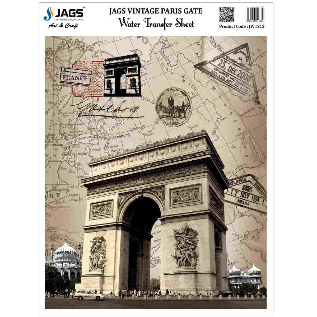 Water Transfer Sheet Paris Gate Design