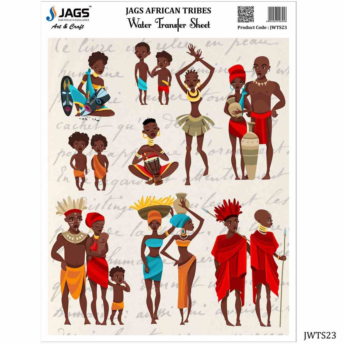 Water Transfer Sheet African Tribes Design
