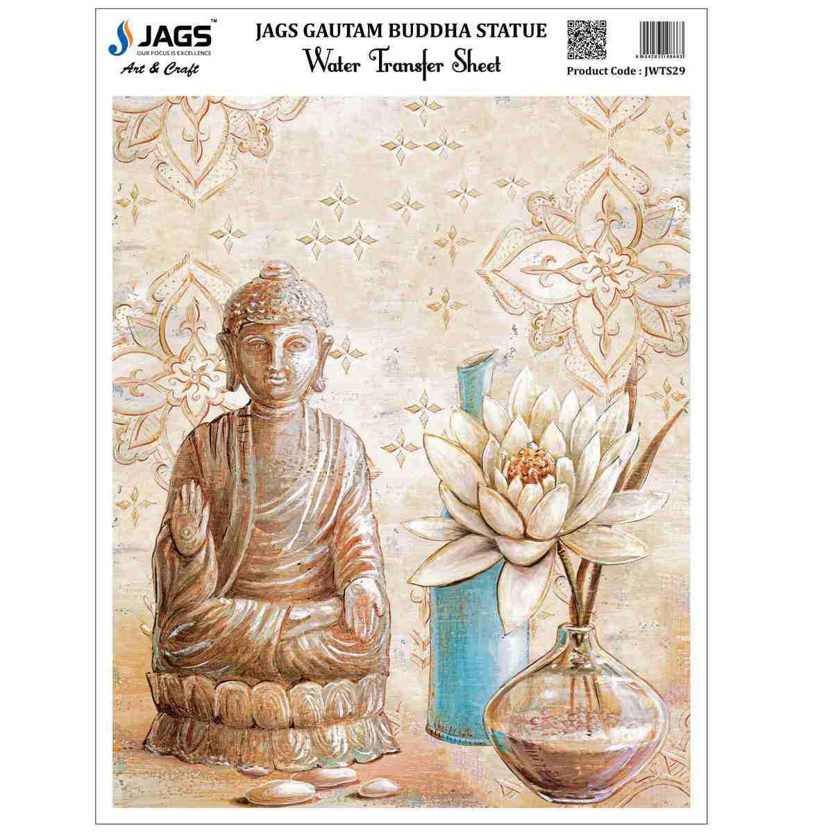 Water Transfer Sheet Gautam Buddha Statue Design