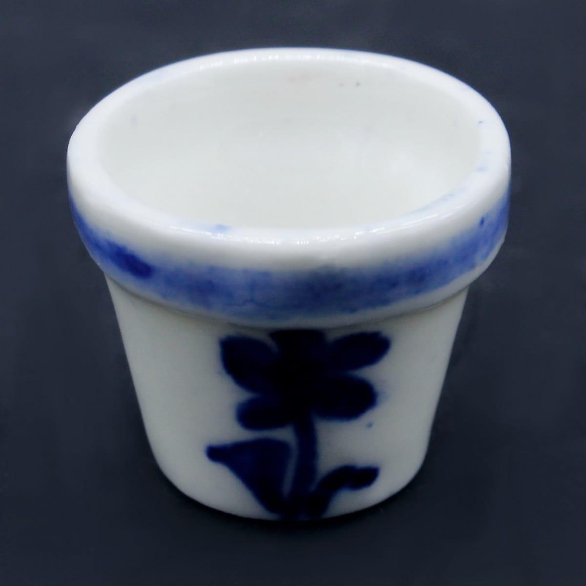 Miniature Ceramic Printed Fancy Pot