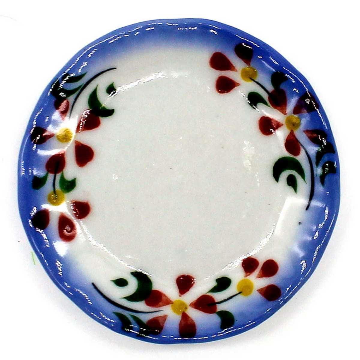 Miniature Ceramic Plate Round Shape