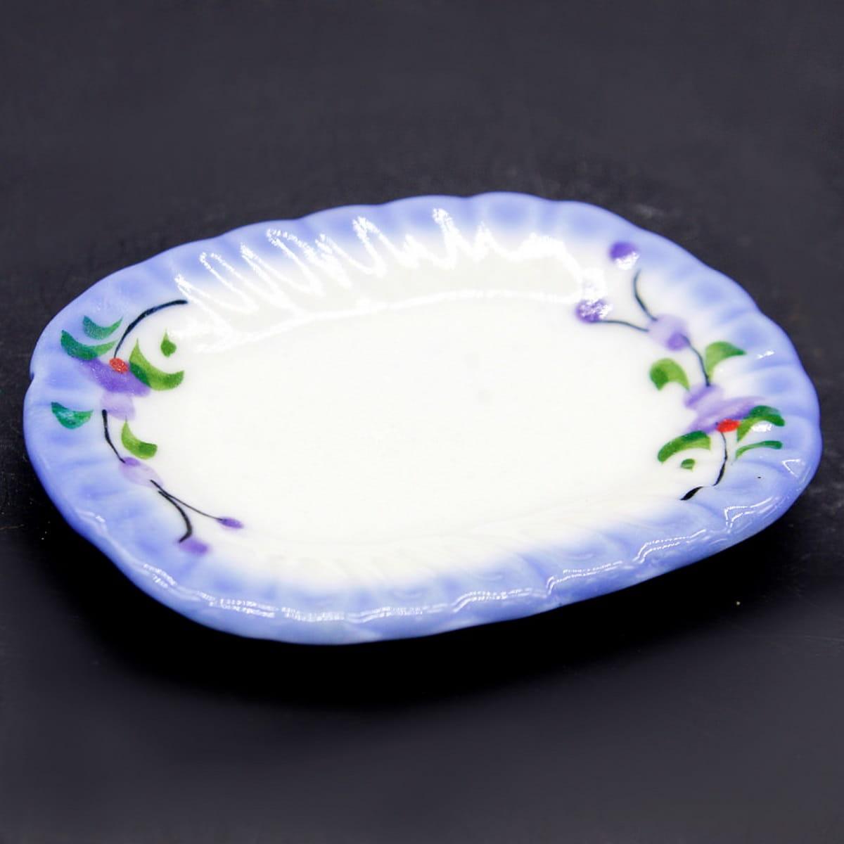Miniature Ceramic Plate Retangle Shape